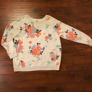 Women's Old Navy floral sweatshirt